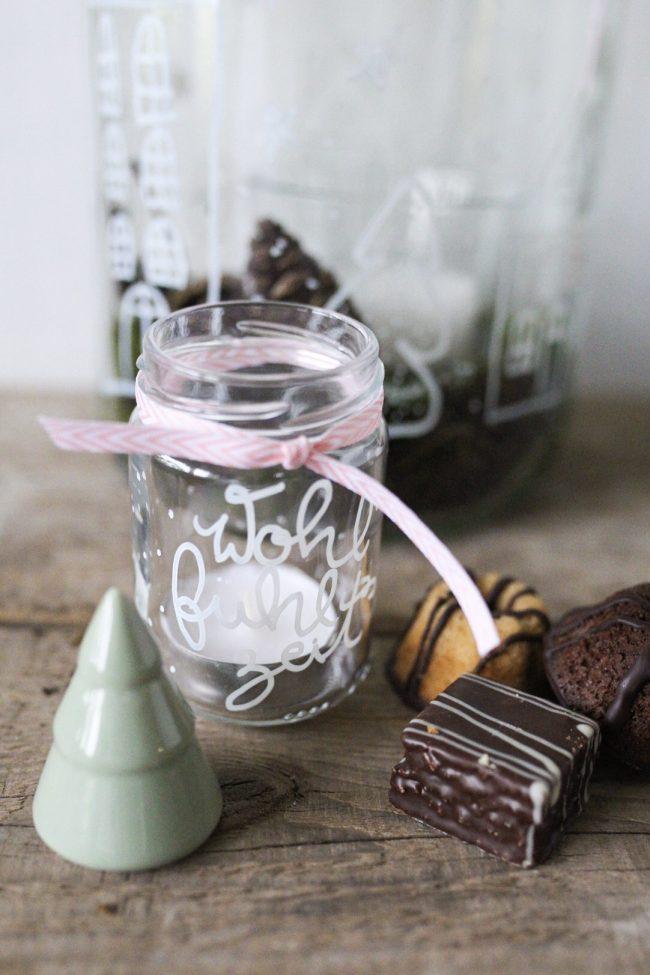 DIY Lettering auf Glas