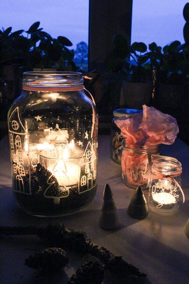 DIY Kerzengläser - Gemütlicher Herbst
