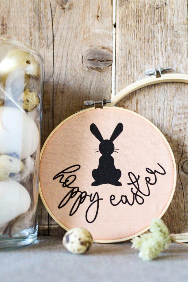 DIY Stickrahmen gestalten mit dem Plotter - hoppy Easter