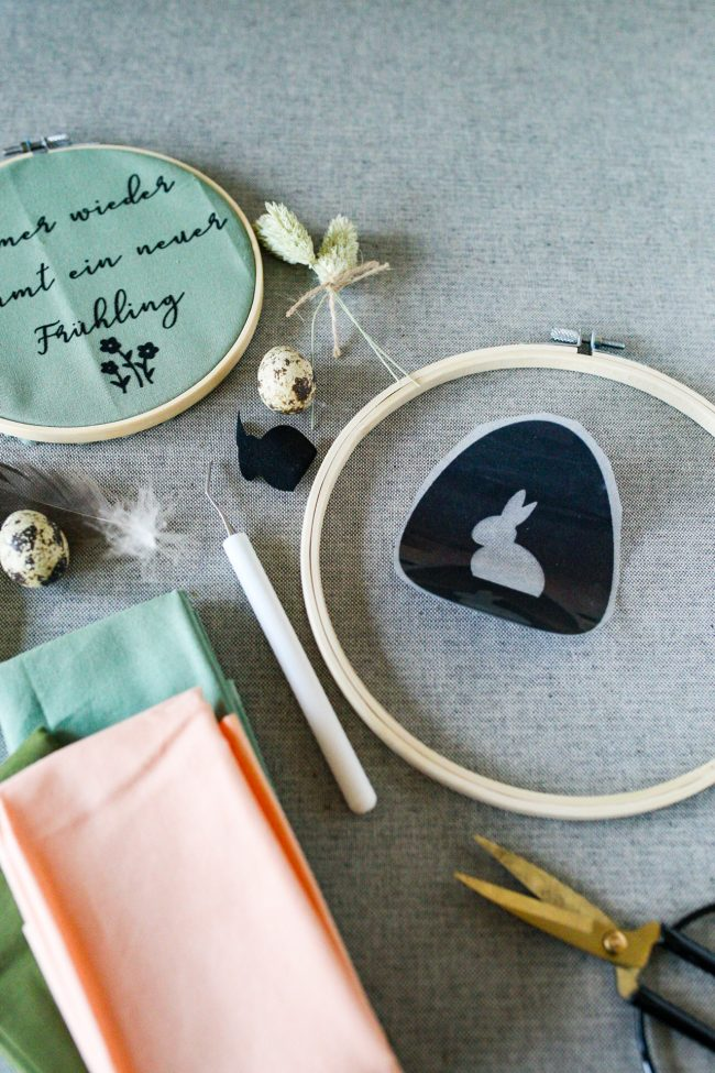 Materialübersicht - DIY Stickrahmen gestalten mit dem Plotter