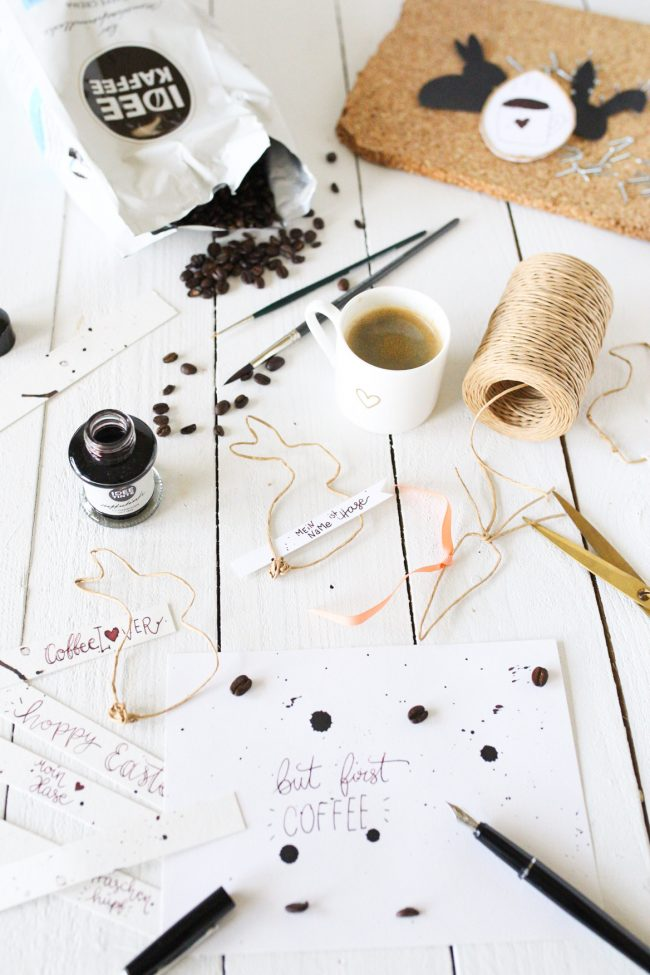 DIY Osterhasen aus Papierdraht & Lettering mit IDEE TINTE