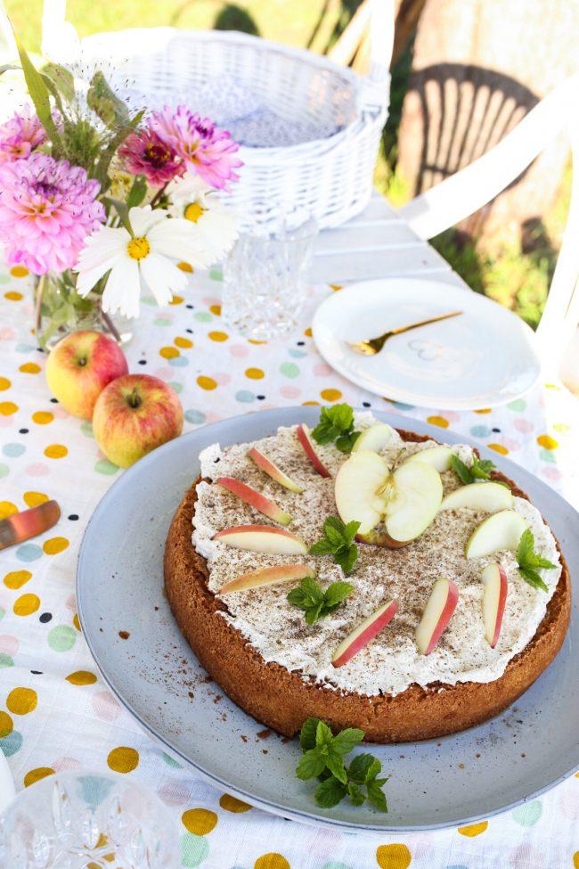 Apfel Schmand Torte mit Ingwer Apfelrezept